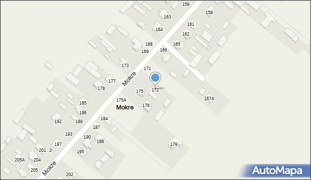 Mokre, Mokre, 172, mapa Mokre