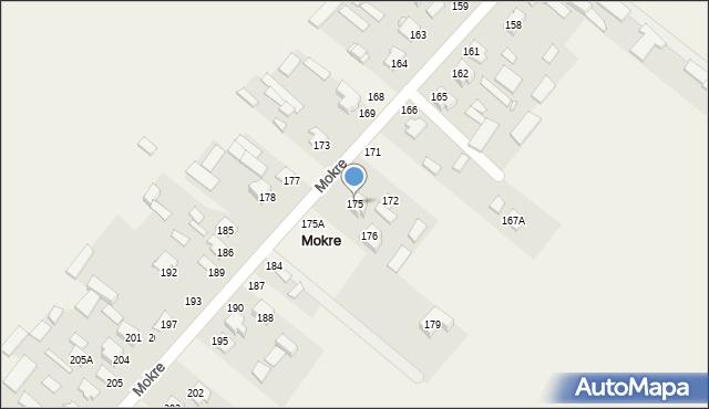 Mokre, Mokre, 175, mapa Mokre
