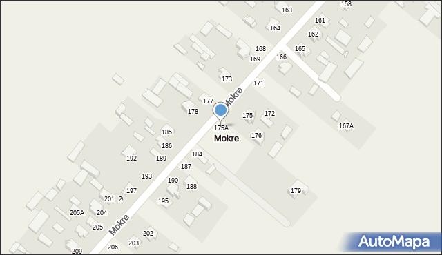 Mokre, Mokre, 175A, mapa Mokre