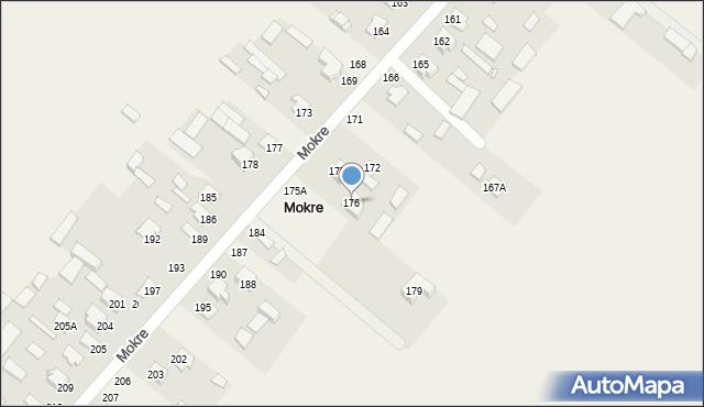 Mokre, Mokre, 176, mapa Mokre