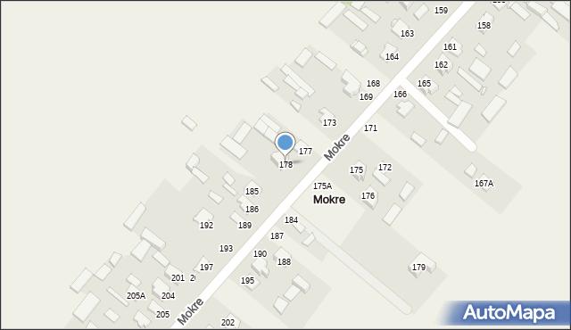 Mokre, Mokre, 178, mapa Mokre