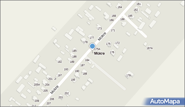 Mokre, Mokre, 180, mapa Mokre