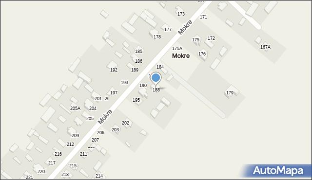 Mokre, Mokre, 188, mapa Mokre
