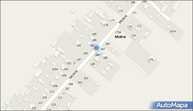 Mokre, Mokre, 190, mapa Mokre