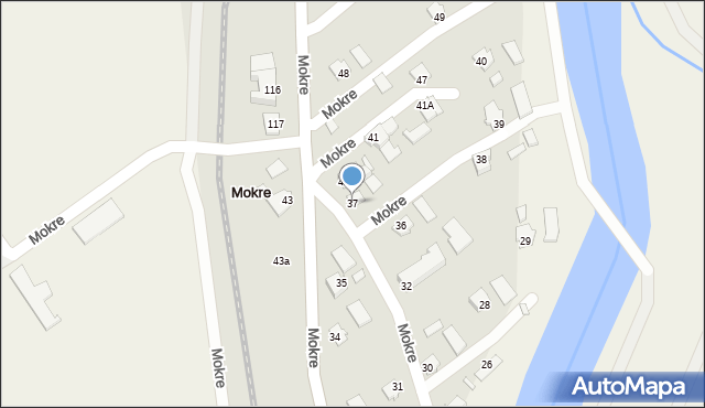 Mokre, Mokre, 37, mapa Mokre