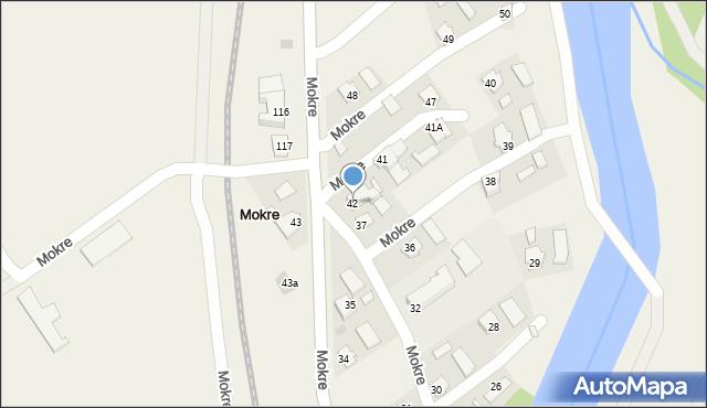 Mokre, Mokre, 42, mapa Mokre