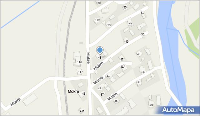 Mokre, Mokre, 48, mapa Mokre