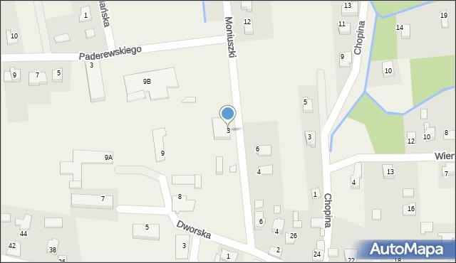 Nowa Wieś, Moniuszki Stanisława, 3, mapa Nowa Wieś