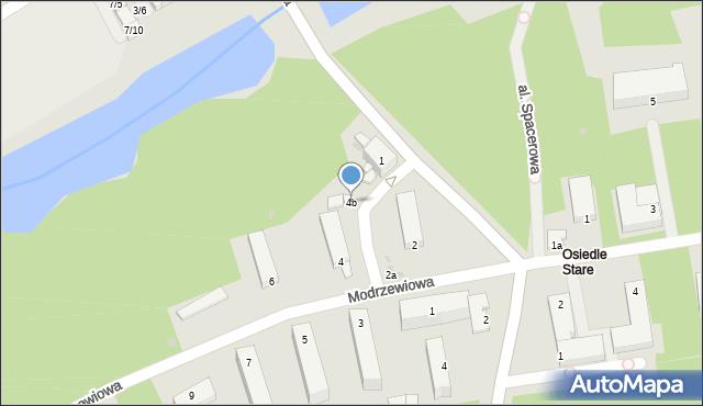 Poniatowa, Modrzewiowa, 4b, mapa Poniatowa