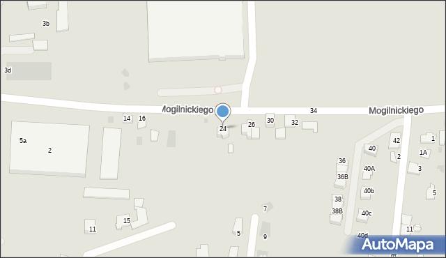 Przemyśl, Mogilnickiego Jana, ks., 24, mapa Przemyśla