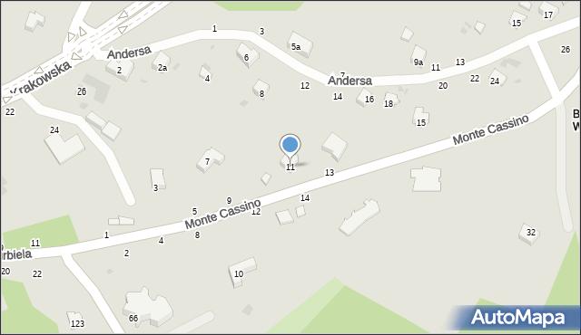 Przemyśl, Monte Cassino, 11, mapa Przemyśla