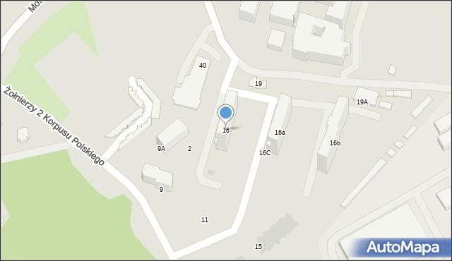 Przemyśl, Monte Cassino, 16, mapa Przemyśla