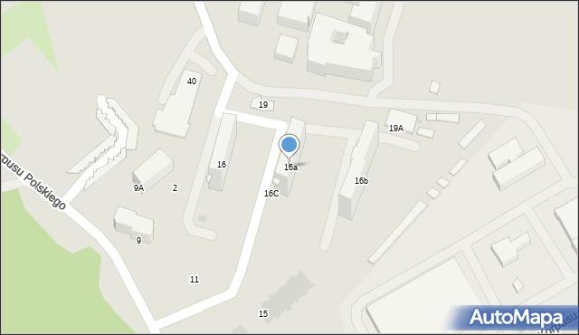Przemyśl, Monte Cassino, 16a, mapa Przemyśla