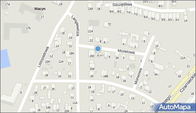 Radom, Morelowa, 7, mapa Radomia