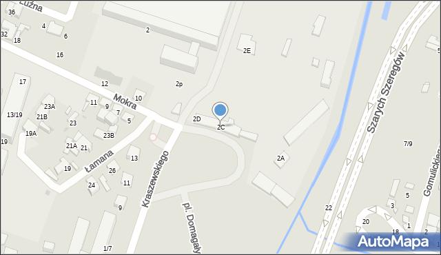 Radom, Mokra, 2C, mapa Radomia
