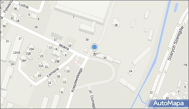 Radom, Mokra, 2D, mapa Radomia