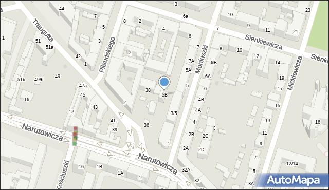 Radom, Moniuszki Stanisława, 5B, mapa Radomia