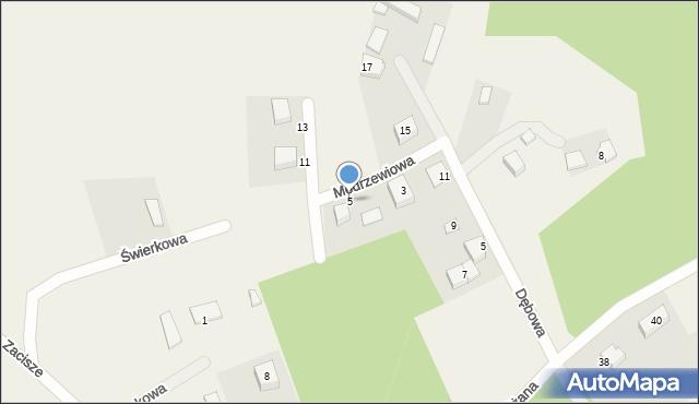Robakowo, Modrzewiowa, 5, mapa Robakowo