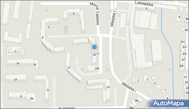 Rzeszów, Monte Cassino, 10, mapa Rzeszów
