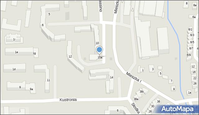 Rzeszów, Monte Cassino, 10a, mapa Rzeszów