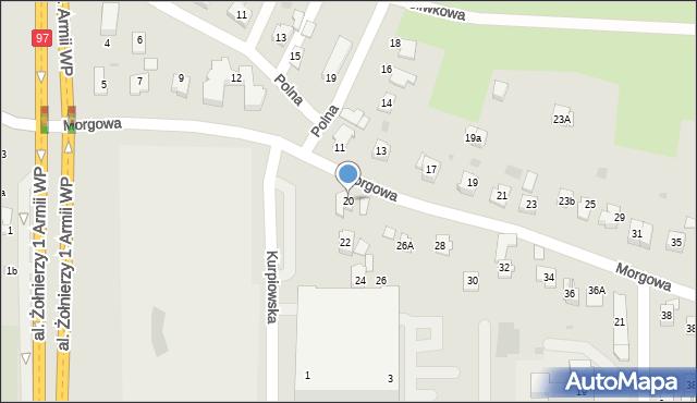 Rzeszów, Morgowa, 20, mapa Rzeszów