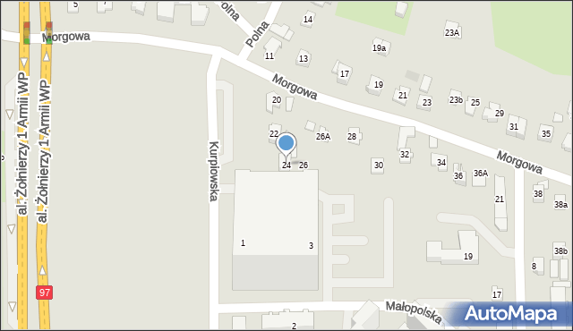 Rzeszów, Morgowa, 24, mapa Rzeszów
