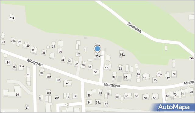 Rzeszów, Morgowa, 55a, mapa Rzeszów