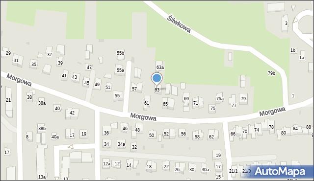 Rzeszów, Morgowa, 63, mapa Rzeszów