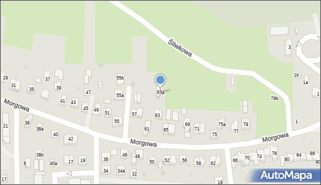 Rzeszów, Morgowa, 63a, mapa Rzeszów
