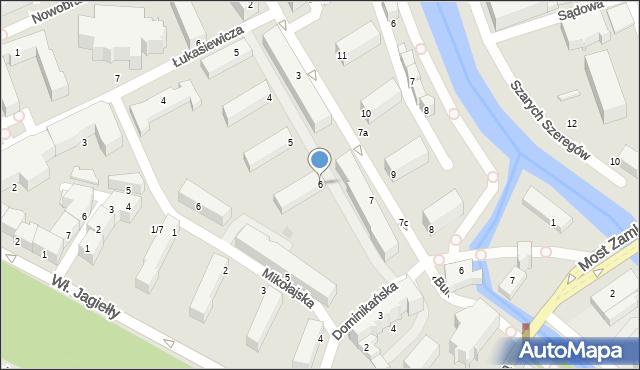 Słupsk, Mostnika Michała, 6, mapa Słupska