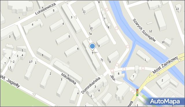 Słupsk, Mostnika Michała, 7, mapa Słupska