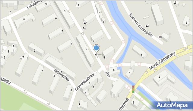 Słupsk, Mostnika Michała, 7c, mapa Słupska