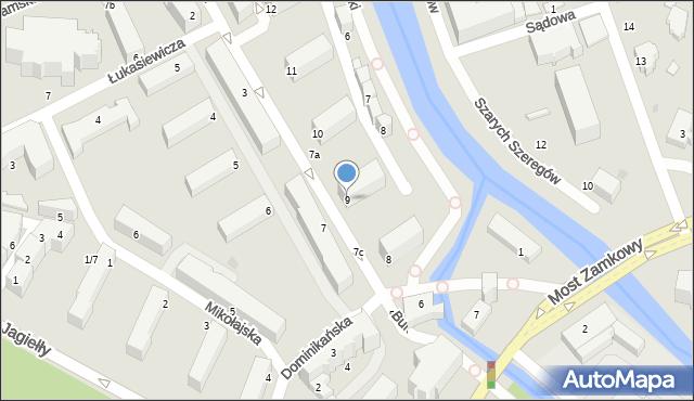 Słupsk, Mostnika Michała, 9, mapa Słupska