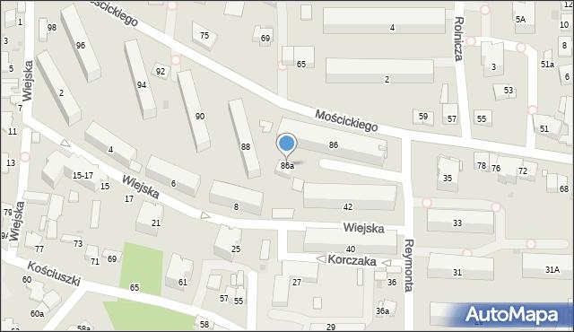 Tarnów, Mościckiego Ignacego, 86a, mapa Tarnów