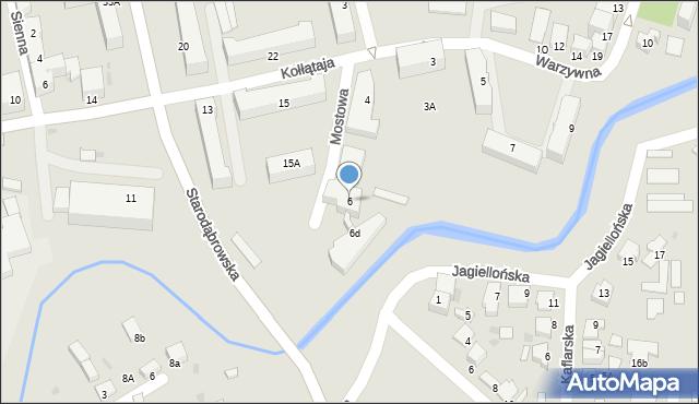 Tarnów, Mostowa, 6, mapa Tarnów
