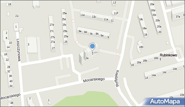 Toruń, Mocarskiego Zygmunta, 2, mapa Torunia