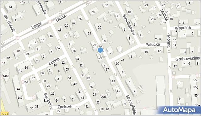 Toruń, Moczyńskiego Zygmunta, 21, mapa Torunia