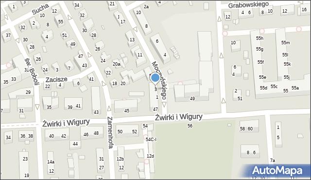 Toruń, Moczyńskiego Zygmunta, 3, mapa Torunia