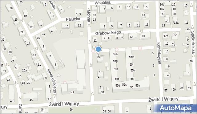Toruń, Mohna Jana, 10, mapa Torunia