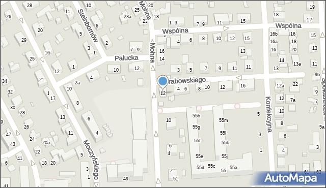 Toruń, Mohna Jana, 12, mapa Torunia