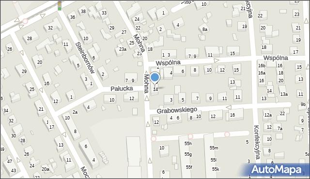 Toruń, Mohna Jana, 14, mapa Torunia