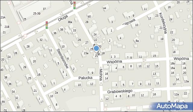 Toruń, Mohna Jana, 21, mapa Torunia
