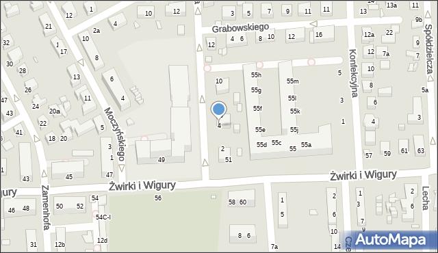 Toruń, Mohna Jana, 4, mapa Torunia