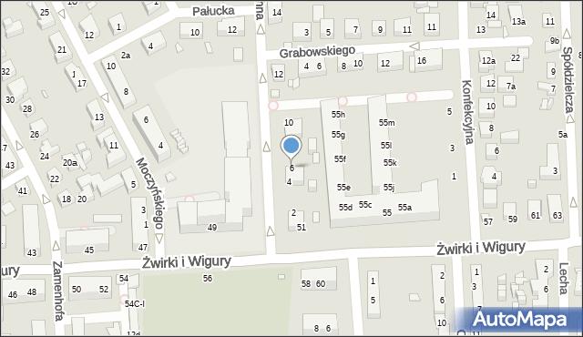 Toruń, Mohna Jana, 6, mapa Torunia