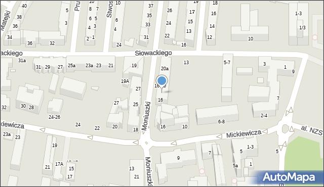 Toruń, Moniuszki Stanisława, 18, mapa Torunia