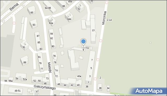 Toruń, Morcinka Gustawa, 11a, mapa Torunia