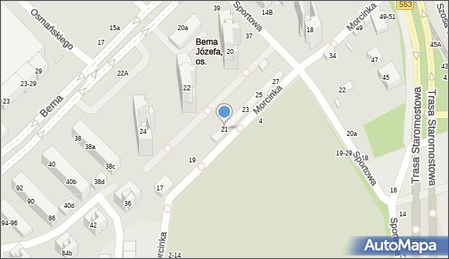 Toruń, Morcinka Gustawa, 21, mapa Torunia