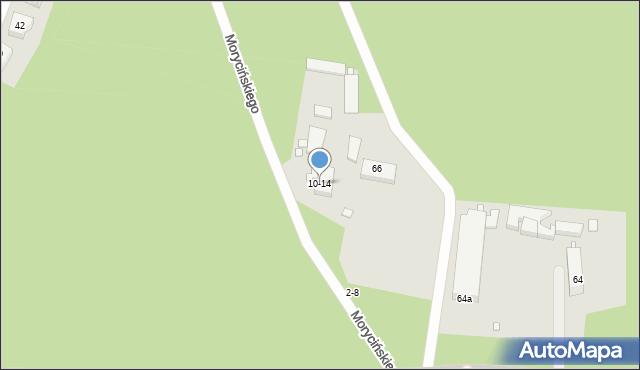 Toruń, Morycińskiego Hugona, 10-14, mapa Torunia