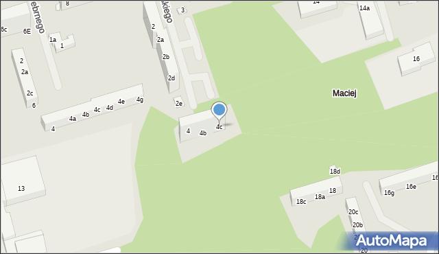 Toruń, Mossakowskiego Józefa, 4c, mapa Torunia