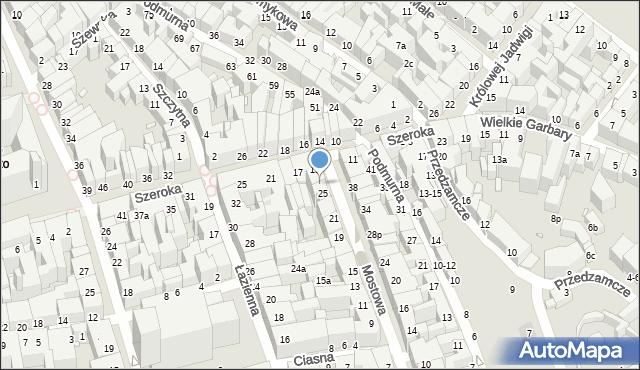 Toruń, Mostowa, 27, mapa Torunia
